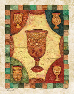 Passover Cups - Mosaic Poster by Michoel Muchnik