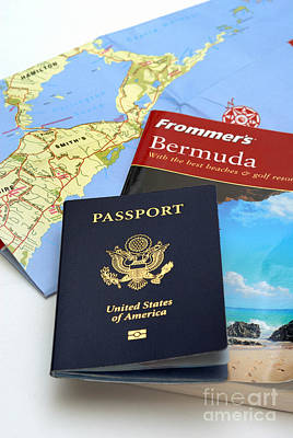 Passport Frommers Travel Guide And Map Poster by Amy Cicconi