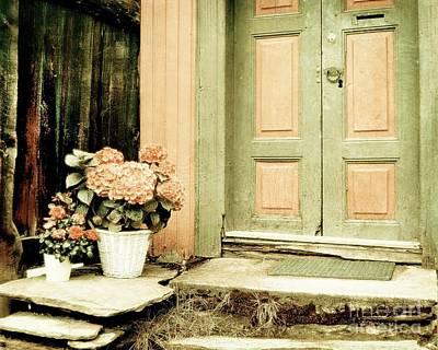 Pastel Colored Doorstep Poster