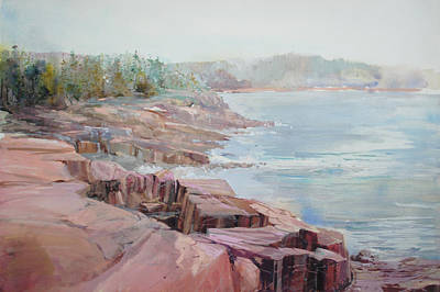 Pastel Cove Poster by P Anthony Visco