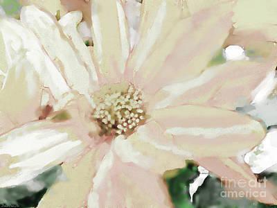 Pastel Daisy Photoart Poster by Debbie Portwood