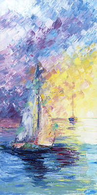 Pastel Evening Poster by Ash Hussein