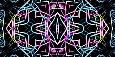 Pastel Kaleidoscope On Black  Poster