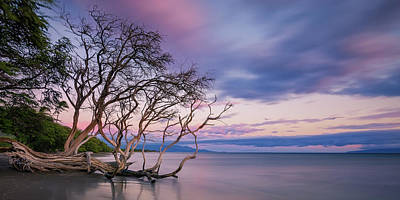Pastels Over The Pacific Poster by Hawaii  Fine Art Photography