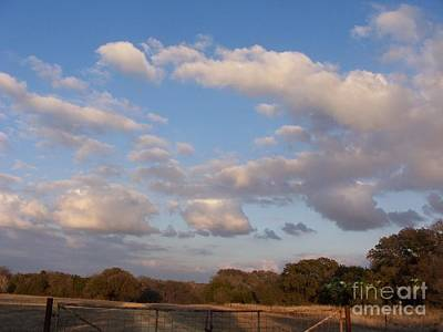 Pasture Clouds Poster