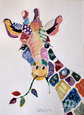 Patchwork Giraffe Poster