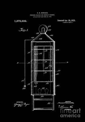 Patent Art Popcorn Display Poster