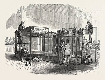 Patent Vertical Printing Machine, In The Great Exhibition Poster by English School