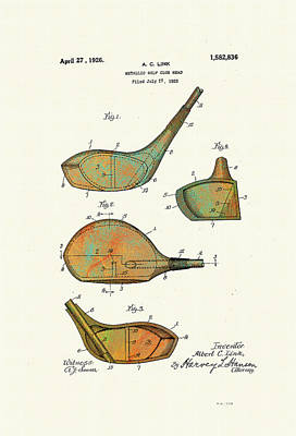 Patented Golf Club Heads 1926 Poster