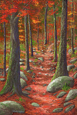 Path In The Autumn Forest Poster by Frank Wilson