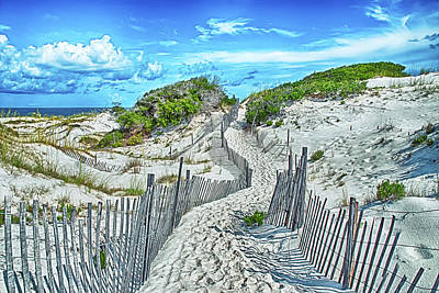 Path To Desserted Beach Poster