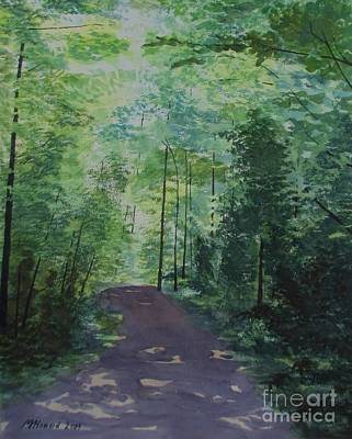 Poster featuring the painting Path To The River by Martin Howard