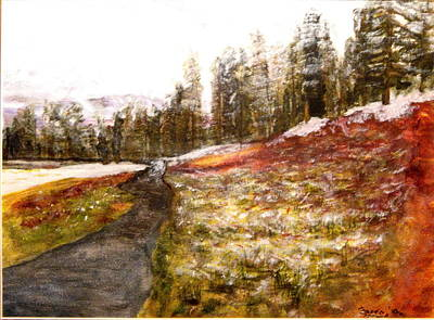 Pathway In The Tetons Poster by Larry Farris