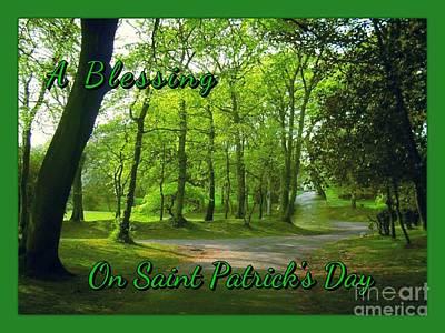 Pathway Saint Patrick's Day Greeting Poster