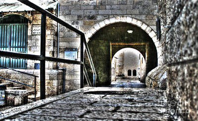 Poster featuring the photograph Pathway Through Old Jerusalem by Doc Braham