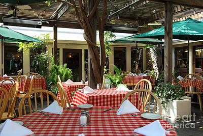 Patio Dining At The Swiss Hotel In Downtown Sonoma California 5d24439 Poster