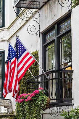 Patriotic Balcony Savannah Georgia Poster