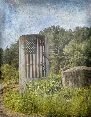 Patriotic Farm Silo Poster by Betty  Pauwels