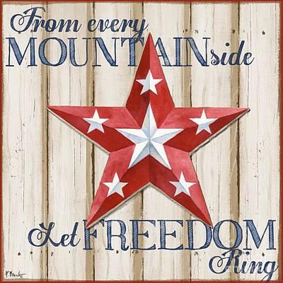 Patriotic Spirit Barn Star Iv Poster