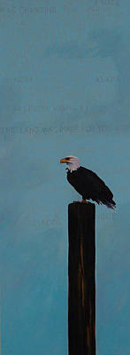 Patriotism Woody Guthrie Style Poster by Carol Meckling