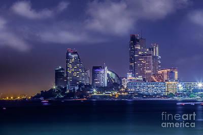 Pattaya City Beach  Poster by Anek Suwannaphoom