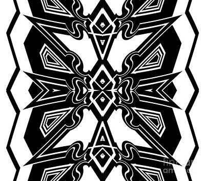 Pattern Black White Art No.172.   Poster by Drinka Mercep