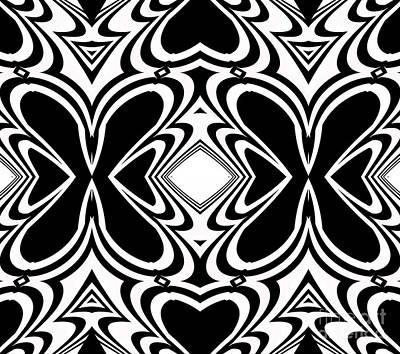 Pattern Black White Art No.266  Poster