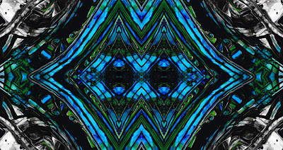 Patterned Art Prints - Cool Change - By Sharon Cummings Poster by Sharon Cummings