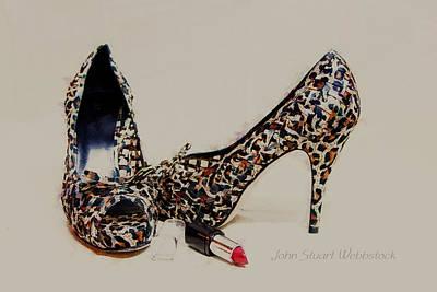 Patterned Heels Poster by John Stuart Webbstock