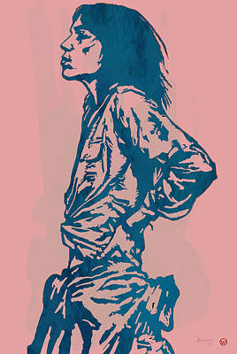 Patti Smith Amsterdam 1976 Pop Art Poster Poster