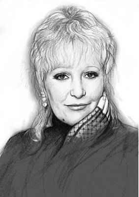 Paul Clark Art Drawing Sketch Portrait Poster by Kim Wang