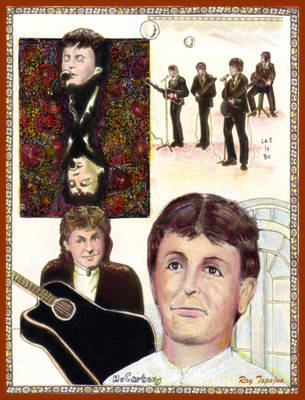 Poster featuring the mixed media Let It Be Paul Mccartney by Ray Tapajna
