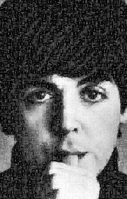 Paul Mccartney Mosaic Image 5 Poster by Steve Kearns