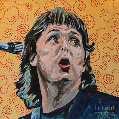 Paul Mccartney Portrait Poster by Robert Yaeger