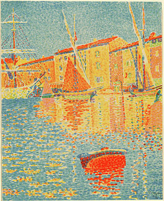 Paul Signac French, 1863 - 1935 , The Buoy La Bouee Poster