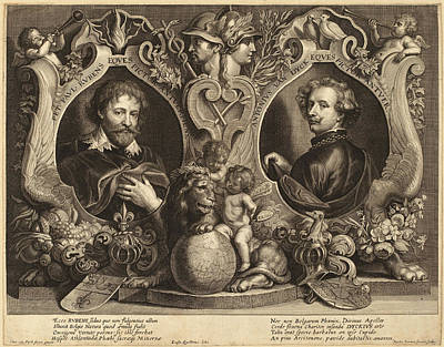 Paulus Pontius, After Sir Anthony Van Dyck And Erasmus Poster