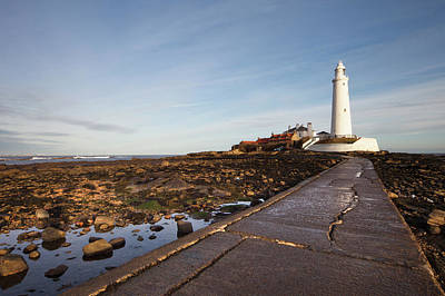 Paved Path To The Lighthouse On St Poster