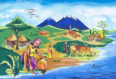 Paysage Du Nord Du Rwanda Poster by Emmanuel Baliyanga