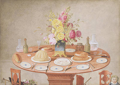 Pd.869-1973 Still Life With A Vase Poster by Jean-Louis Prevost
