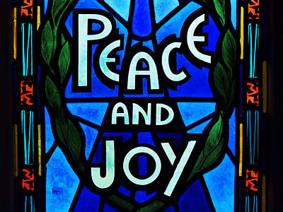 Peace And Joy Poster by Zinvolle Art
