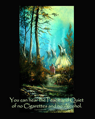 Peace And Quiet Drug Free Tepee Poster