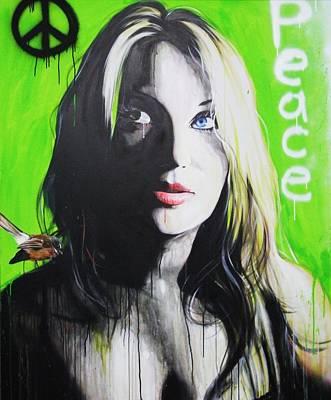 Portrait - ' Peace ' Poster by Christian Chapman Art