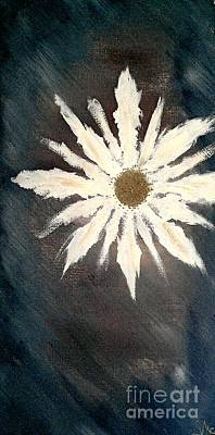 Poster featuring the painting Peace Flower by Jacqueline McReynolds