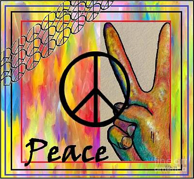 Peace In Every Color Poster by Eloise Schneider