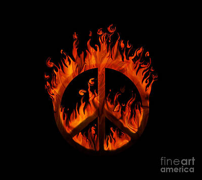 Peace In Flames Poster