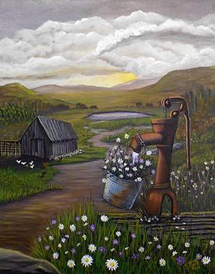Poster featuring the painting Peace In The Valley by Sheri Keith