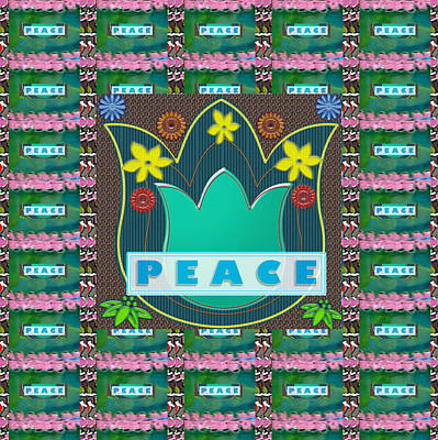 Peace Jobs Children Environment Society Country Nations World Politics Economy Brotherhood Drinking  Poster by Navin Joshi