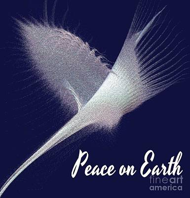 Peace On Earth Dove Of Love Poster by Gail Matthews