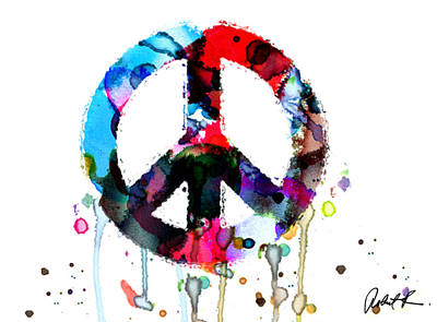 Peace Painting - Signed Art Abstract Paintings Modern Www.splashyartist.com Poster