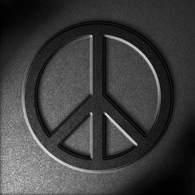 Peace Sign Stone Texture Poster by The Learning Curve Photography